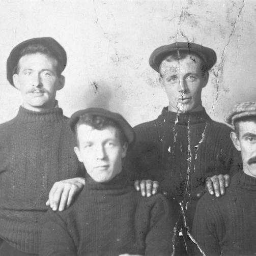 Portrait of Brodie Smith, Jocky Barclay, Jeems Watson, and Peter Murray.