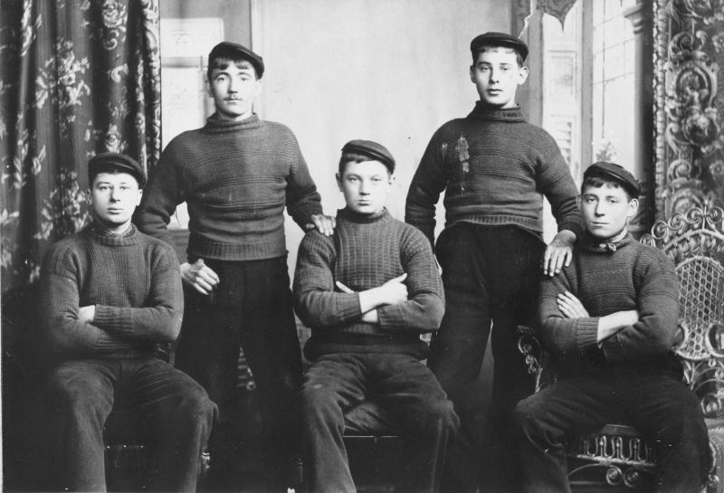 Studio Portrait of Five Men, Cellardyke