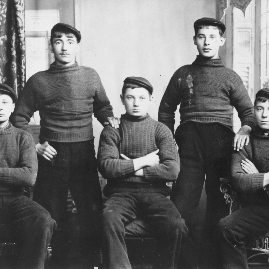 Studio Portrait of Five Men, Cellardyke