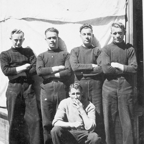 Group Portrait of Five Pittenweem Fishermen