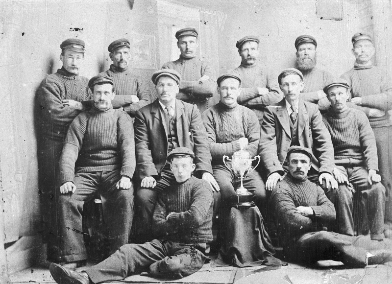 Studio Portrait of Crew of 'Clementina', Campbeltown, 1904