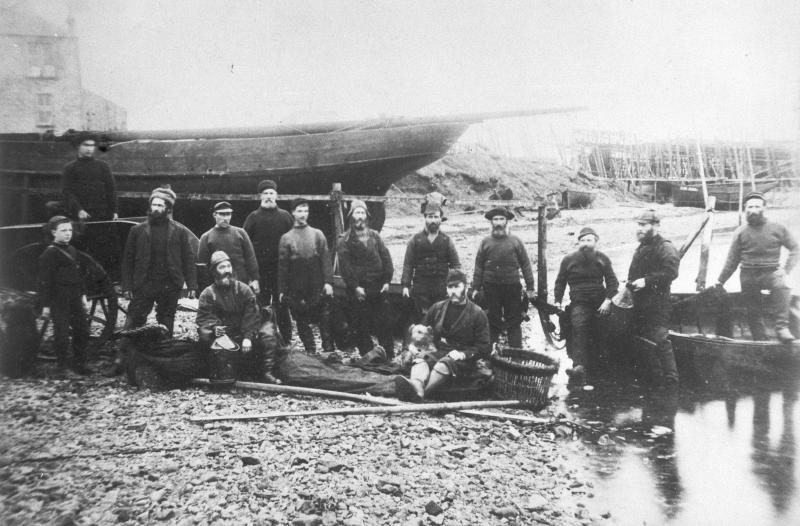 Crew of 'Fairy Lad', Campbeltown, c.1880