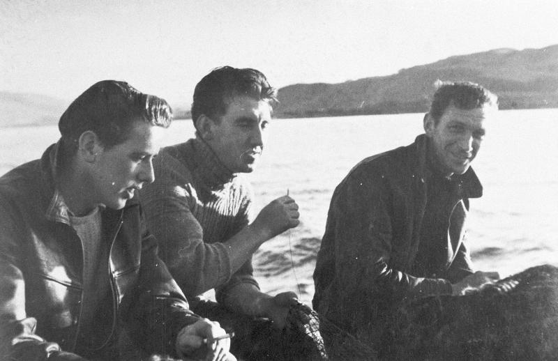 Portrait of Three Men Onboard 'Stella Maris II', c.1955-1956.