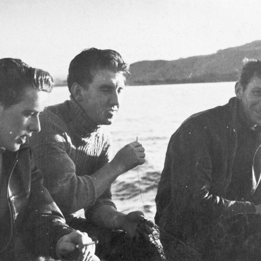Portrait of Three Men Onboard 'Stella Maris II', c.1955-1956.
